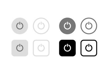 電源ボタン。グラフィック素材、アプリ、デザインパーツ