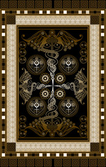 Graphical illustration of a Tarot card 11