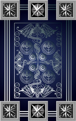 Graphical illustration of a Tarot card 11_2