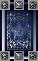 Graphical illustration of a Tarot card 12_2