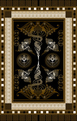 Graphical illustration of a Tarot card 15
