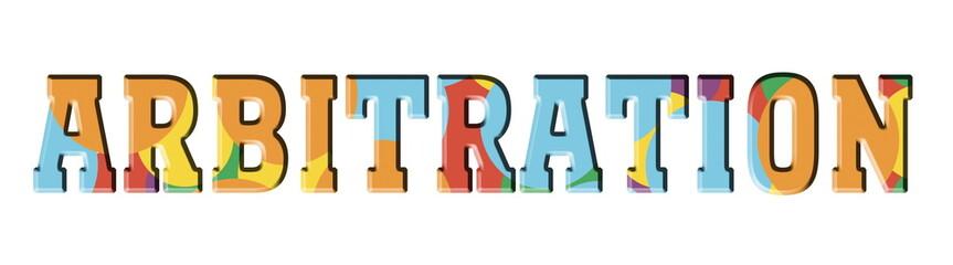 Arbitration Color letters. Logo stamp banner.