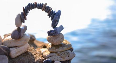 zen stones, creative design practice and peace Wall mural