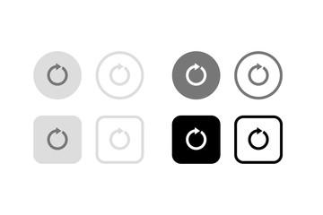 ループ再生ボタン。グラフィック素材、UI、アプリデザインパーツ