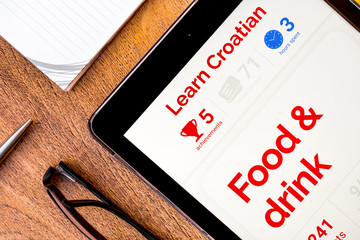 Learning Croatian with language learning app on a tablet: gamification of language learning