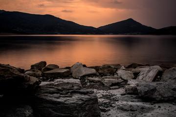 Tramonto - Lago di Campotosto