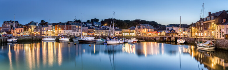 Padstow Harbour at Dusk, Cornwall Wall mural