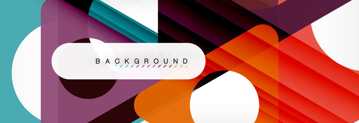 Circle and triangle abstract background