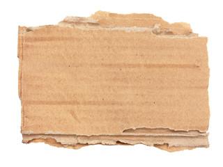 Morceau de carton ondulé déchiré