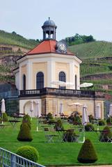 Blick zum Belvedere von Schloss Wackerbarth