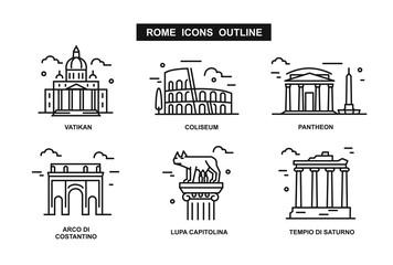 icon Rome flat