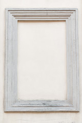 frame made of concrete molding on the wall