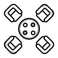Coffee table icon vector