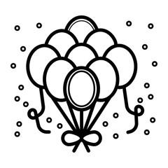 Balloons icon vector