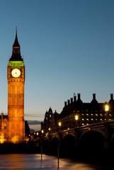 Big Ben, Westminster bridge and Houses of parliament, London, UK
