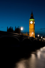 Big Ben, Westminster bridge and Houses of parliament, London, UK