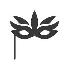 fancy mask, Halloween related, glyph icon design