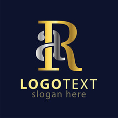 AR Initial letter logo icon vector