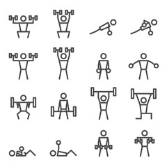 Exercise workout fitness weight training vector icon
