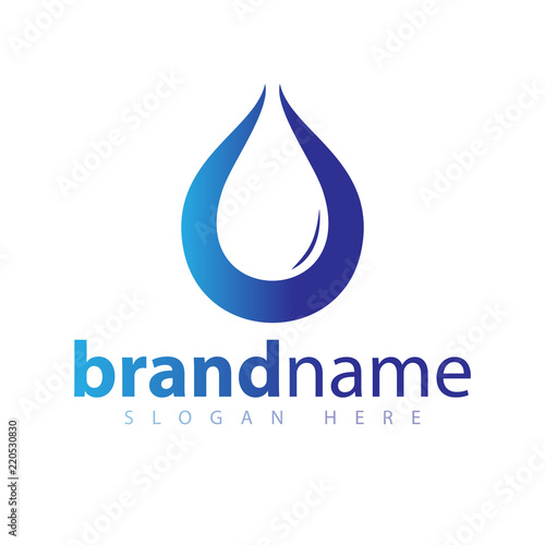 Water Droplet Logo Icon Vector Template Stock Image And Royalty