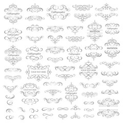 Vector set - calligraphic design elements