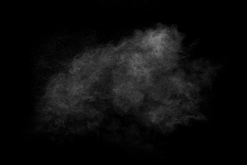 Dust cloud on black background