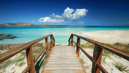 Fotomurales - der Weg zum Meer - Sehnsucht