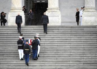 U.S. Senator John McCain's casket arrives at US Capitol in Washington