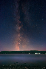 The Milky Way above the Lake Constance as seen from the peninsula Mettnau at Radolfzell in Germany.