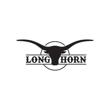 Long Horn Logo Vector