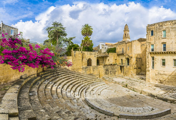 Wall Mural - Ancient Roman theater in Lecce, Puglia region, southern Italy