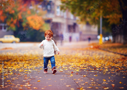 Cute redhead park