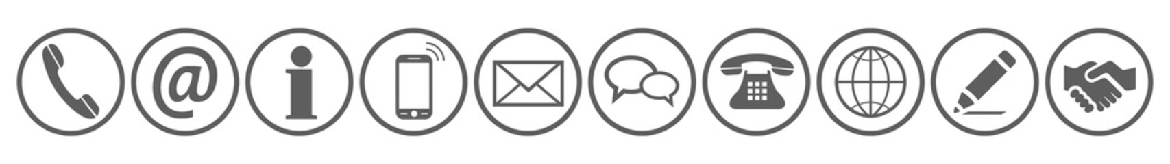 Set contact icons sign - vector