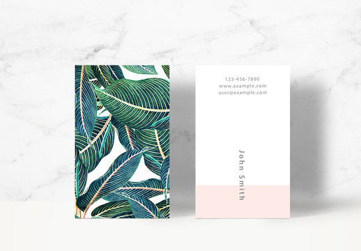 Botanical Business Card Layout