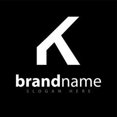 K letter logo icon vector template