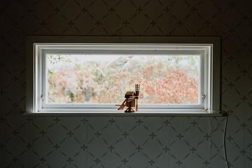 Molino en la ventana
