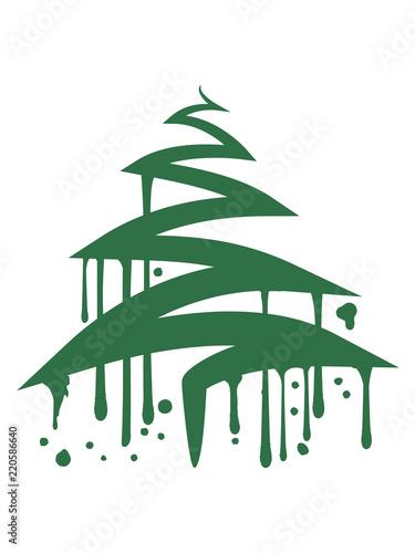 Graffiti Tropfen Weihnachtsbaum Weihnachten Nikolaus Winter
