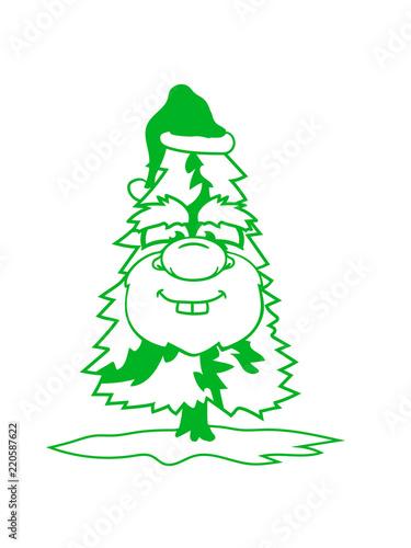 Weihnachtsbaum Clipart.Gesicht Lustig Weiß Grün Weihnachtsbaum Weihnachten Nikolaus Winter