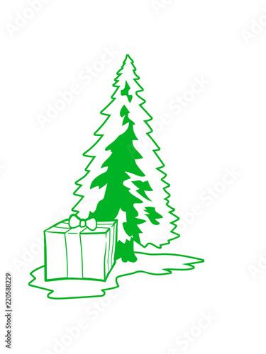 Geschenk Weiss Grun Weihnachtsbaum Weihnachten Nikolaus