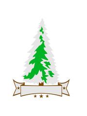 banner text name weiß grün weihnachtsbaum weihnachten nikolaus winter geschenke tannenbaum nadelbaum baum kalt schnee schmuck clipart