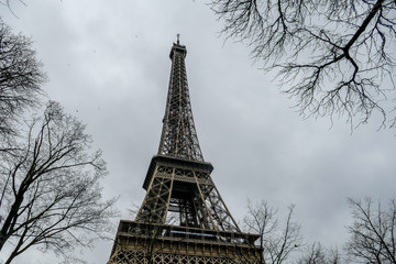Eiffel Tower, Photo image a Beautiful panoramic view of Paris Metropolitan City