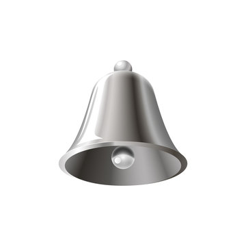 Realistic silver bell