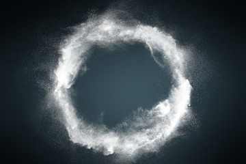 Abstract dust explosion frame background