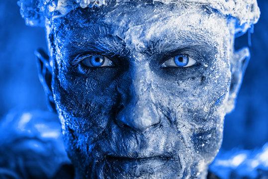 close-up frozen look