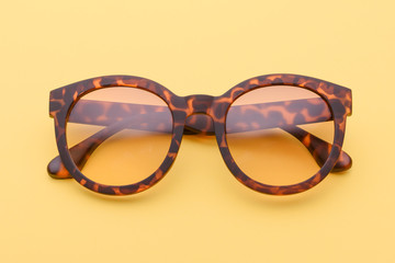19666a8d321 Closeup of a pair of glasses isolated on white background ...
