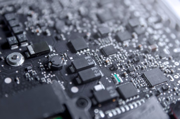 Circuit board and electronic computer hardware, Repair of electronic control panel, motherboard.