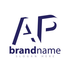 AP initial letter with negative space logo icon vector template