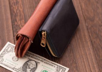 使い古した財布