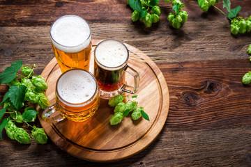 Foto auf Leinwand Bier / Apfelwein Bier - Alkohol - Spirituosen - Getränk - Hopfen - Gerste - Stutzen- Seidel - Kanne - Glas