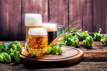 Fond de hotte en verre imprimé Biere, Cidre Bier - Alkohol - Spirituosen - Getränk - Hopfen - Gerste - Stutzen- Seidel - Kanne - Glas